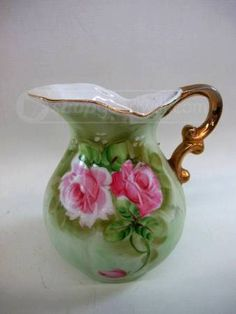 Lefton China Hand Painted Porcelain Pitcher