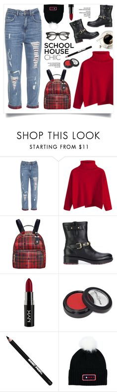 """""""School House Chic!"""" by diane1234 ❤ liked on Polyvore featuring Tommy Hilfiger, Reverie, NYX and Manic Panic NYC"""