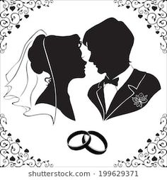 Find Vector Silhouette Bride Groom Beautiful Framed stock images in HD and millions of other royalty-free stock photos, illustrations and vectors in the Shutterstock collection. Bride And Groom Silhouette, Wedding Silhouette, Silhouette Clip Art, Wedding Anniversary Cards, Wedding Cards, Crystal Wedding Decor, Broderie Simple, Wedding Drawing, Gravure Laser