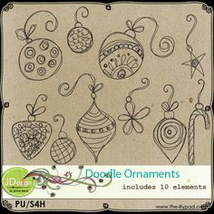 Doodled Ornaments by Jenna Desai