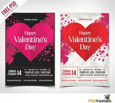 Download Valentines Party Flyer PSD Template Freebie. This freebie is ready to print with 2 color variation Dark and Light. You can easily change everything like color, image, text and elements. The PSD file is very well organised, with color coded groups and layers named appropriately.