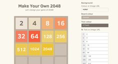 Terrific tool for your and your kids to make your own 2048 game.