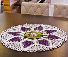 Centro de mesa em croche cachos de uvas - CROCHE COM RECEITAS