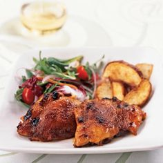Spicy Honey-Brushed Chicken Thighs Recipes
