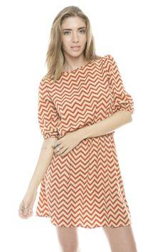 Orange chevron dress!!
