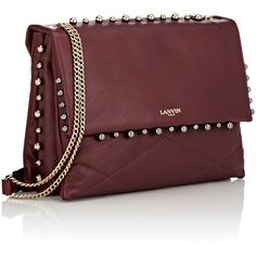 Lanvin Sugar Medium Shoulder Bag ($2,490) ❤ liked on Polyvore featuring bags, handbags, shoulder bags, zipper purse, chain handle handbags, lanvin purse, beaded purse and chain shoulder bag