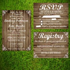 registry inserts for wedding invitations