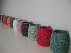 Crochet nos vasos