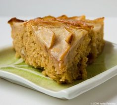 Pear Right-Side-Up Cake. Super Moist. Low-Fat.