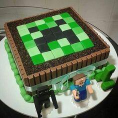 minecraft cake birthday ~ minecraft cake + minecraft cake ideas + minecraft cake easy + minecraft cake birthday + minecraft cakes for boys + minecraft cake pops + minecraft cake cupcakes + minecraft cake diy Minecraft Birthday Cake, 8th Birthday Cake, Birthday Parties, Easy Minecraft Cake, Minecraft Cupcakes, Minecraft Tutorial, Mine Craft Party, Mine Craft Cake, Minecraft Games