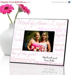 Personalized Maid of Honor Frame  Bridesmaids by CreativeByClair