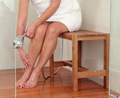 Arb Teak & Specialties Fiji Teak Shower Bench, 23.5 Inch