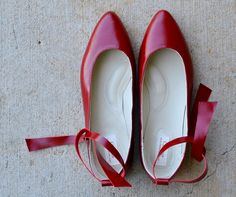 Sunny handmade leather flats in red MADE to your by chebran