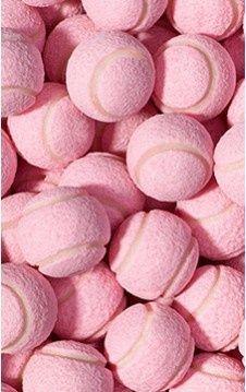 Balles de tennis teintées en rose !!!