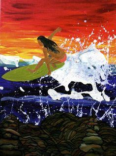 c6c8fd1b0ee Surfer painting. Jamie Smith · Salt Life
