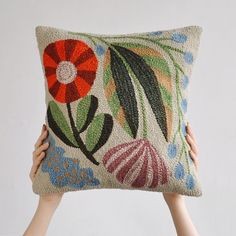 Punch needle pillow by @bookhou