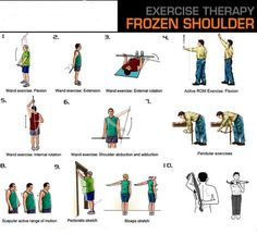 Frozen Shoulder Exercises Print Out | Email This BlogThis! Share to Twitter Share to Facebook Share to ...