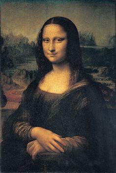 """Leonardo -  Mona Lisa, c. 1503. Oil on panel. Sfumato = Italian for """"smoky."""""""