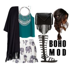 Boho chic by magic-armarium on Polyvore featuring polyvore, moda, style, MANGO, River Island, Missguided, Steve Madden, J.J. Winters, Express and With Love From CA