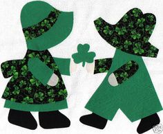 Sunbonnet Sue and Sam St. Pat's Day