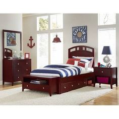 Hillsdale Pulse Twin Arch Bed with Trundle, Cherry, Brown, Hillsdale Kids and Teen Platform Bed With Drawers, Twin Platform Bed, Transitional Living Rooms, Transitional Decor, Transitional Kitchen, Hillsdale Furniture, Bedroom Furniture, Safe Bunk Beds, Trundle Bed With Storage