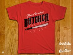 butchershoppe threadlesss dribbble template 800x600 40 Incredible T Shirt Concepts for Inspiration