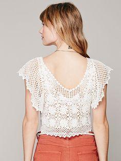 Crochetemoda: Top White Crochet