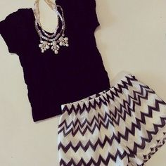 fashion shorts and statement necklace