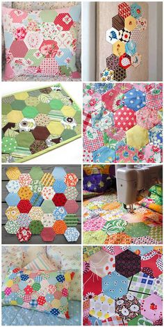 Hexagons- what a collection with links too. Super cute