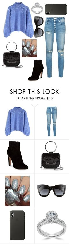 """""""90"""" by andreea-narcisa-obreja on Polyvore featuring Chicwish, Mother, Gianvito Rossi, Nasty Gal, Dimepiece, Gucci, Apple and Bliss Diamond"""