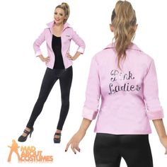 Women\'s Pink Ladies Frenchie Grease Costume, Adult Grease Costume ...