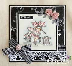 Scrapcards by Marlies: Zwart wit roze kaart voor jou I Card, Lily, Frame, Inspiration, Beautiful, Home Decor, Picture Frame, Biblical Inspiration, Decoration Home