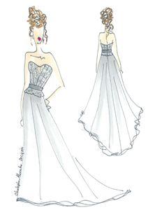 """""""BARCELONE"""", de CHRISTOPHE-ALEXANDRE DOCQUIN , robe bustier en dentelle brodée et en satin de soie , #tenuedemariage #haute-couture #paris #collectionpermanente #mariage #createur #robedemariee"""