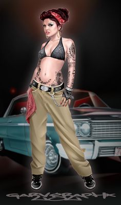 #Chicano_art #Gangsta       For more great pins go to @KaseyBelleFox