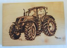 New Holland Tractor Picture Plaque Pyrography Pokerwork Original Art - by Sally Marshall by SJMArtCollectables on Etsy Tractor Pictures, New Holland Tractor, Study Pictures, Pyrography, Sally, Tractors, Original Art, The Originals, Antiques