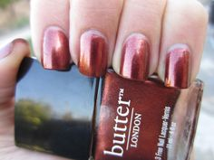 Butter London SHAG.  Great color for Fall!