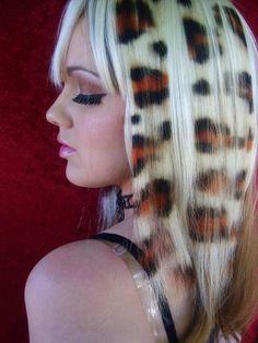 Looks cool Funky Hairstyles, Pretty Hairstyles, Amazing Hairstyles, Latest Hairstyles, Fashion Art, Hair Rainbow, Leopard Print Hair, Cheetah Hair, Leopard Spots