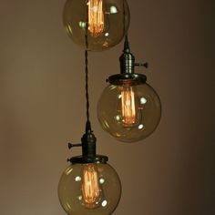 3 Light Chandelier - loving this idea!
