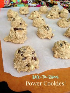 POWER Cookies for Back-To-School #vegan #nutfree #glutenfree #oilfree #cookies