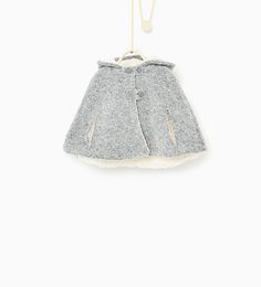 Poncho with fleecy interior-COATS-Baby girl-Baby | 3 months - 3 years-KIDS | ZARA United States