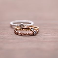Round Pendant Stacking Rings | Simple & Dainty