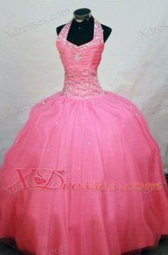 Waltermelon Beading Little Girl Pageant Dresses