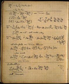 wasbella102:  Albert Einstein's notebook