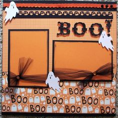 halloween scrapbook layouts - Bing Images--I will replace ghosts with pumpkins/leaves