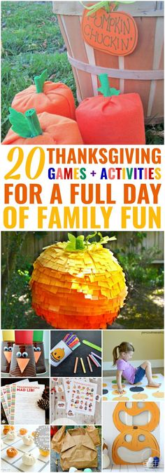 25 DIY Thanksgiving Games + Activities for a Full Day of Family Fun • Sarah Blooms