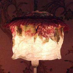 Lampshade/lampenkapje Voile des Roses uit de door MargrietThissen