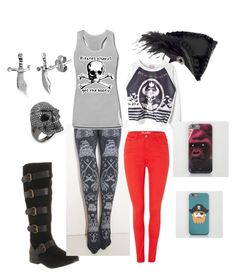 """""""Demon Pirate"""" by zephyll ❤ liked on Polyvore"""