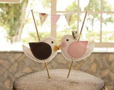 Topo de bolo passarinhos | The New Pink | Elo7