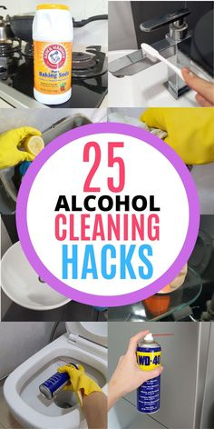 Rubbing alcohol is an awesome cleaning product for every home! It has plenty of household uses when it comes to cleaning and disinfecting. It can be used to disinfect your toilet seat, door knob and remove sticky residues in the bathroom. Here are 25 amazing ways to use rubbing alcohol at home, read the blog to learn all the cleaning tips and tricks! #homewhis #cleaninghacks #cleaningtips #cleaningideas #rubbingalcohol #rubbingalcoholuses Cleaning Recipes, Diy Cleaning Products, Cleaning Solutions, Cleaning Hacks, Car Cleaning, Cleaning Spray, Deep Cleaning, Kitchen Cleaning, Natural Window Cleaners