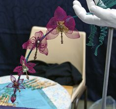 Orchids. Bobbin lace.